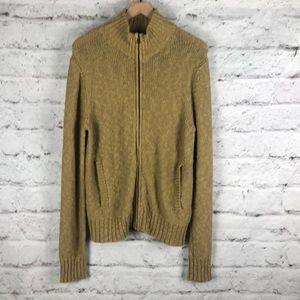 Lucky Brand Zip Down Sweater Sz Medium